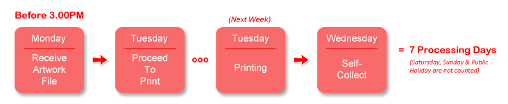 LetterHead Printing Self-Collect Schedule